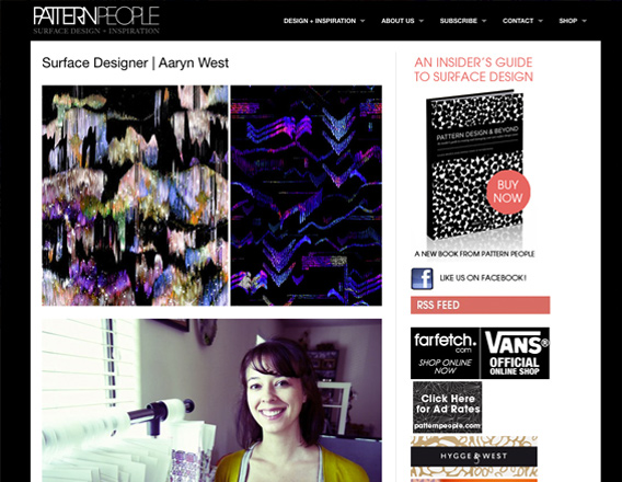 aaryn west interview on pattern people